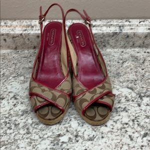 Coach Wedge Sandals 9 B